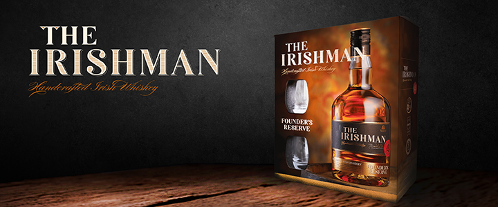 the Irishman Founder Reserve Whiskey irlandais cOFFRET DEUX VERRES