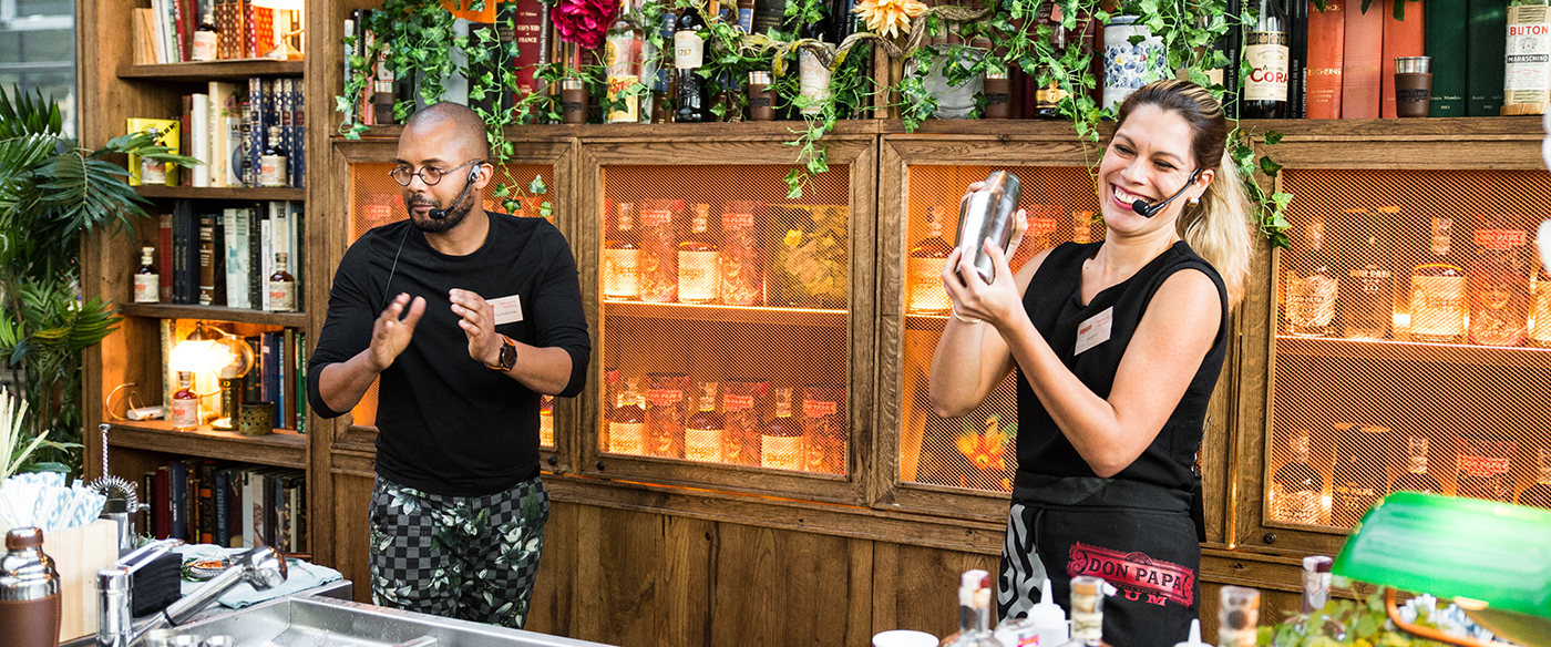 Angelica et Wilfried cirany - Barmen - Concours cocktails Don papa