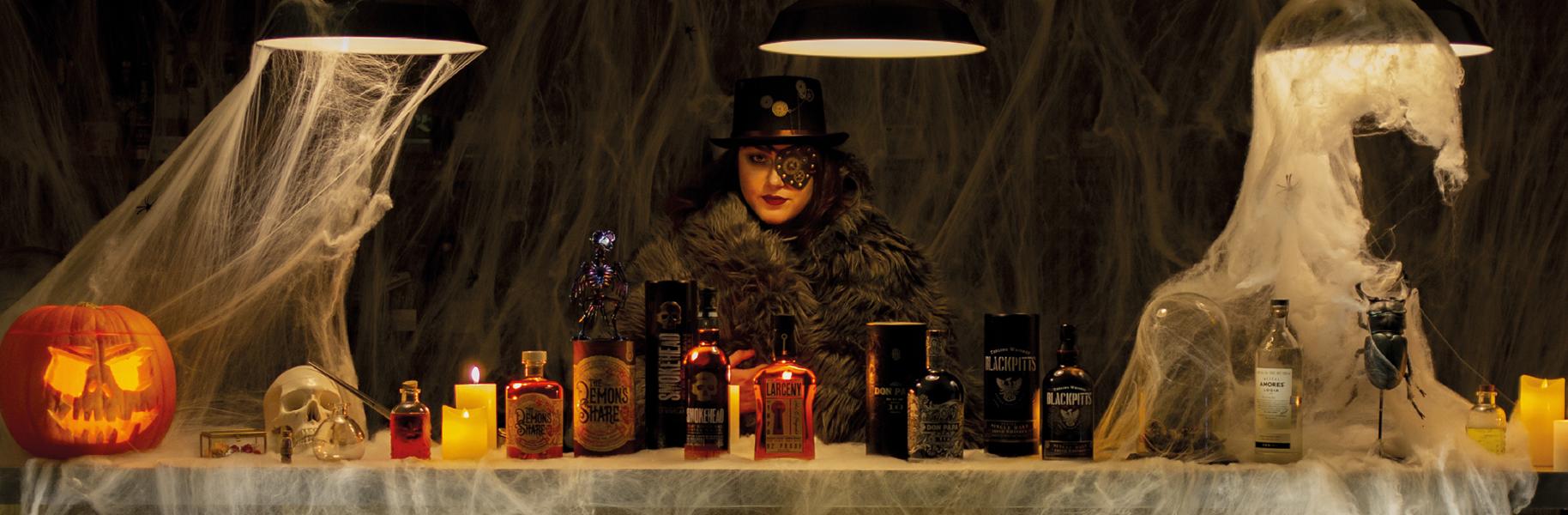 Halloween_2020 selection spiritueux dugas club expert don papa larceny rhum whisky